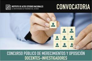 Convocatoria Del Instituto De Altos Estudios Nacionales
