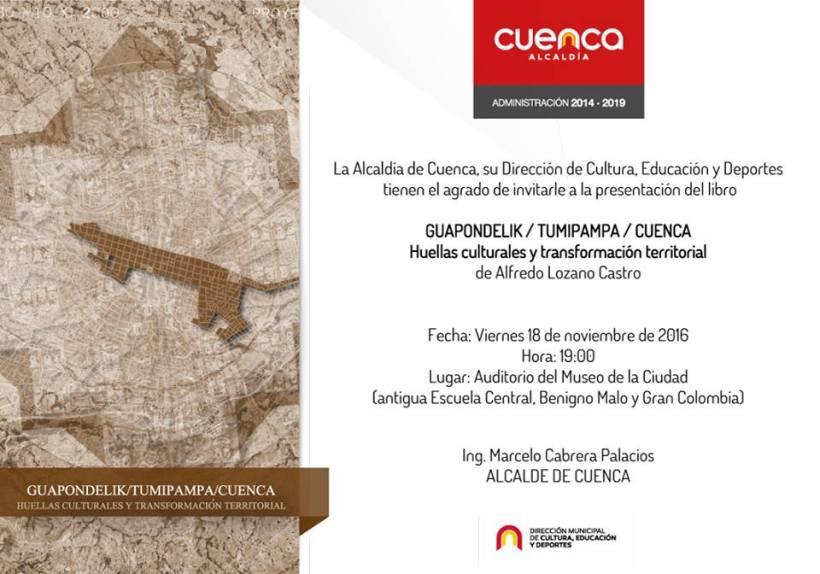 invitacion-presentacion-libro-guapondelik-tumipampa-cuenca