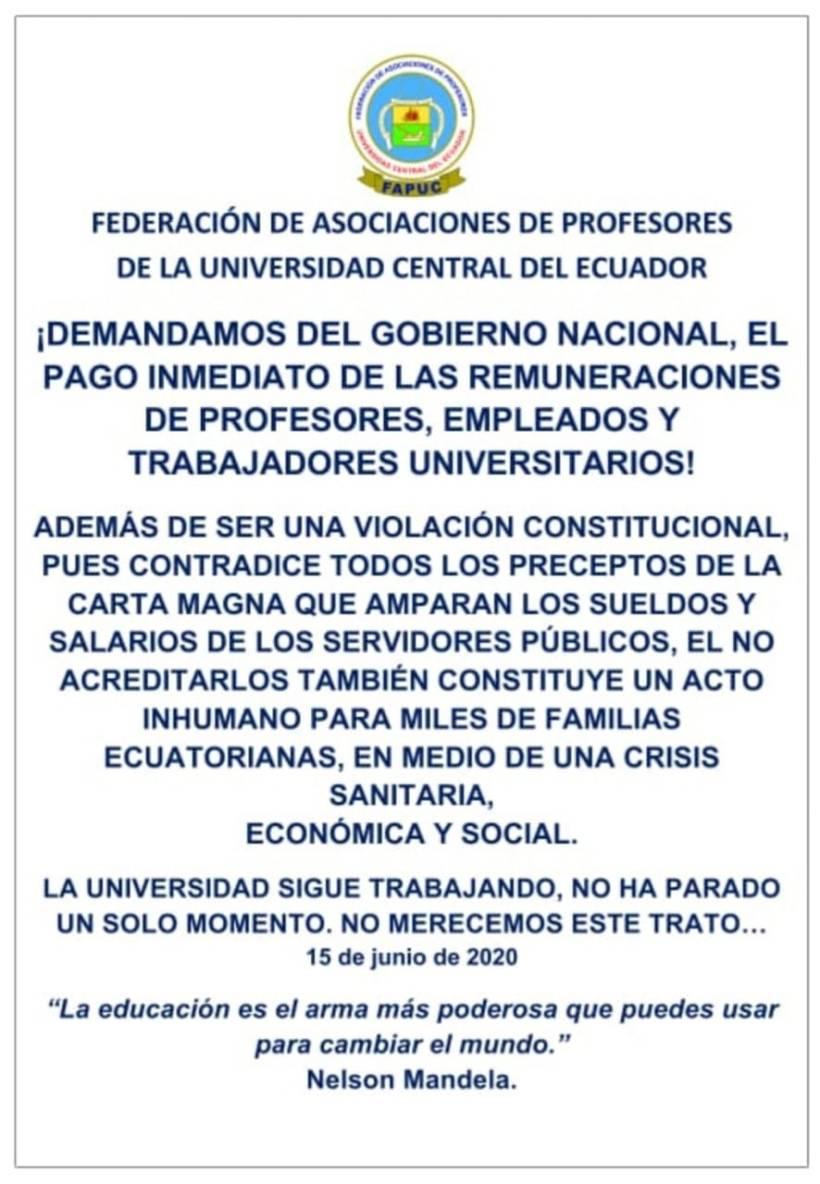 Federación de Asociaciones de Profesores de la UCE